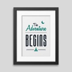 The adventure begins Framed poster